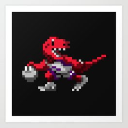 Ballin' Raptor Art Print