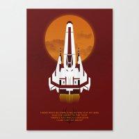 battlestar Canvas Prints featuring Battlestar Galactica Viper MK II by jake