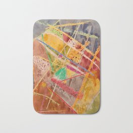 Expressionism Painting Artistic Abstract Bath Mat