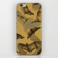 bats iPhone & iPod Skins featuring Bats by Deborah Panesar Illustration