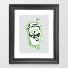 Latte Ghost Framed Art Print