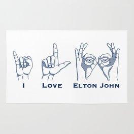 I Love Elton V2 Rug