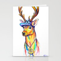 swag Stationery Cards featuring Swag Stag by Heather Hartley