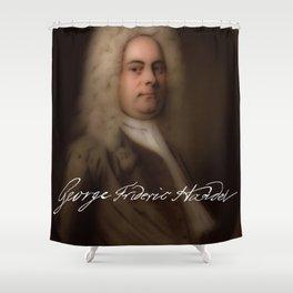 George Frideric (or Frederick) Handel (born Georg Friedrich Händel) by Balthasar Denner (c.1726–172 Shower Curtain