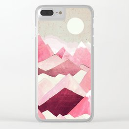 Blush Berry Peaks Clear iPhone Case