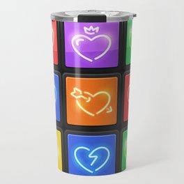 Rubik's Cube with Love Puzzle Travel Mug