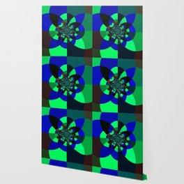 Green Blue Kaleidoscope Wallpaper