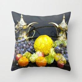 Surreal Food Still Life Throw Pillow