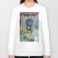 shopping Long Sleeve T-shirts featuring Window Shopping by Frankie Cat