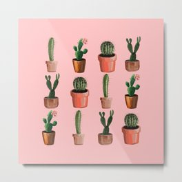 Various Cacti Pink Metal Print