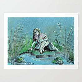 GrimmSeries1 - Frog King Art Print