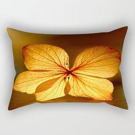 Fragile Hydrangea Flower Rectangular Pillow