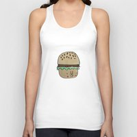 burger Tank Tops featuring Burger by Tuesday Logan