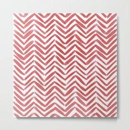 Zigzag - red Metal Print