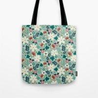 garden Tote Bags featuring Flower Garden by Anna Deegan