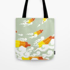 Flight of the rockets Tote Bag