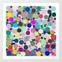 Bouncing Bubble Hue Art Print