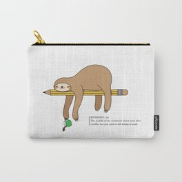 Humpday Vibes - Working like a sloth, needing more coffee Carry-All Pouch