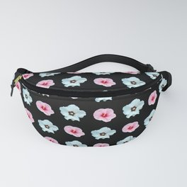 Sepia and pink flowers -bloom,blossom,petal,floral,leaves,flor,garden,nature,plant. Fanny Pack