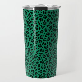 LEOPARD PRINT in GREEN | Collection : Leopard spots – Punk Rock Animal Print Travel Mug