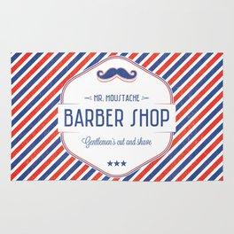Mr. Moustache Barber Shop Rug