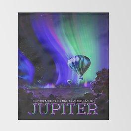 Vintage poster - Jupiter Throw Blanket