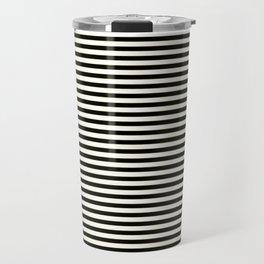 Thin alternating gold black and white art deco stripes Travel Mug