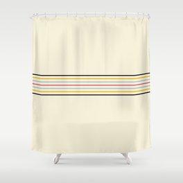 Classic Fine Retro Stripes Shower Curtain