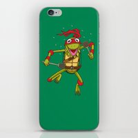 muppet iPhone & iPod Skins featuring TEENAGE MUPPET NINJA PUPPET by T.a. Bryant