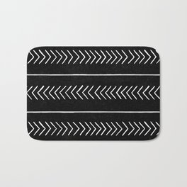 Tribal 02 - Black Bath Mat