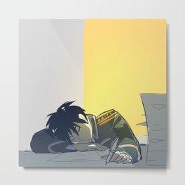 Sleepy Metal Print
