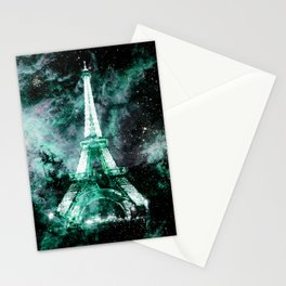 Paris Dreams Mint Green Lavender Stationery Cards