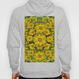 YELLOW COREOPSIS FLOWERS GREEN GARDEN Hoody