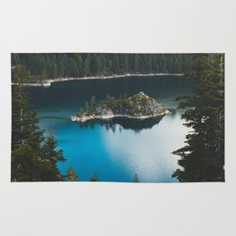 Fannette Island in Emerald Bay - Lake Tahoe, California Rug