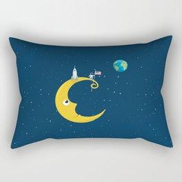 Man on the Moon Rectangular Pillow
