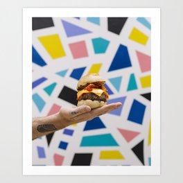 Trippy Burger Art Print
