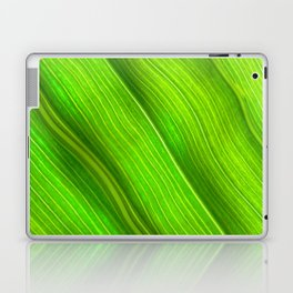 Flowing veins of Nature - Bright Lime Green Leaf Abstract Laptop & iPad Skin