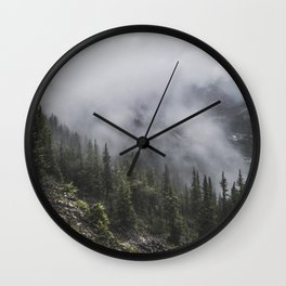 Forest in the Fog   Colour Landscape Wall Clock