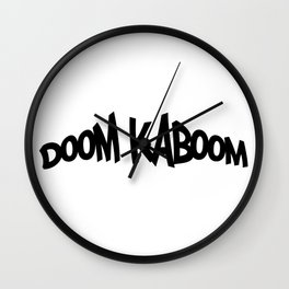 DoomKaboom | Graffiti Logo Wall Clock
