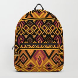Yellow plaid. The creative pattern . Backpack