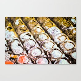 Abstract Gold Bumps Canvas Print