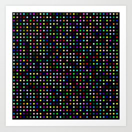 Big Hirst Polka Dot Black Art Print