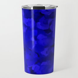 Rich Cobalt Blue Abstract Travel Mug