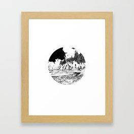 Dinosaur in the Bay of Fundy Framed Art Print