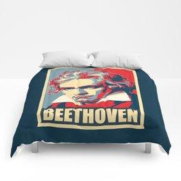 Beethoven Propaganda Poster Pop Art Comforters