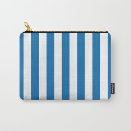 Biscayne Blue Vertical Tent Stripes Florida Colors of the Sunshine State Carry-All Pouch