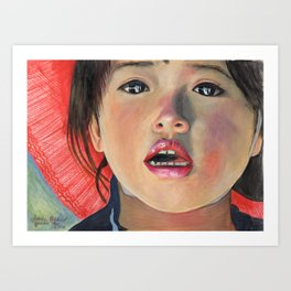 LITTLE GIRL FROM ANTOFAGASTA DE LA SIERRA Art Print