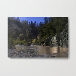 West Branch, Feather River, Paradise CA.  Metal Print