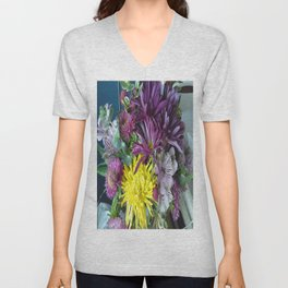 Mixed Flower 2 Unisex V-Neck