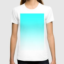 Aqua to White Ombre T-shirt